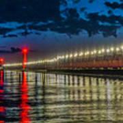 Long Lights At Grand Haven Pier Art Print