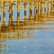 Long Wooden Pier Reflections Art Print