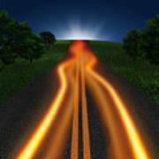 Long Road In Twilight Art Print