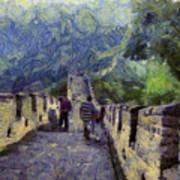 Long Slope Of The Great Wall Of China Art Print