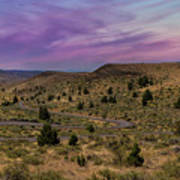Long Winding Road In Central Oregon Art Print
