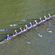 Longboat - Rowing On The Schuylkill River Art Print