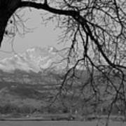 Longs Peak And Mt. Meeker The Twin Peaks Black And White Photo I Art Print by James BO  Insogna