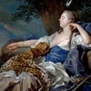 Loo, Louis-michel Van Tolon, 1707 - Paris, 1771 Diana In A Landscape 1739 Art Print