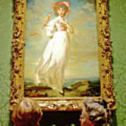 Looking At Pinkie In Huntington European Art Museum  In San Marino-california  Art Print