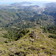 Looking Down From The Top Of Mount Tamalpais 2 Art Print
