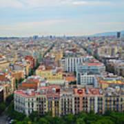 Looking Down On Barcelona From The Sagrada Familia Art Print