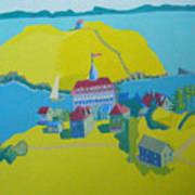 Looking Down On Monhegan And Manana Islands Art Print