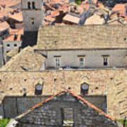 Looking Down On Old Dubrovnik Art Print