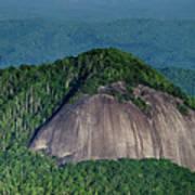 Looking Glass Rock Mountain In North Carolina Art Print