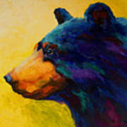 Looking On II - Black Bear Art Print