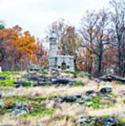 Looking Towards The Top Of Little Round Top Art Print