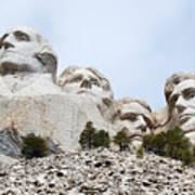 Looking Up At Mount Rushmore National Monument South Dakota Art Print