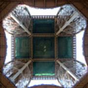 Looking Up Eiffel Tower Art Print