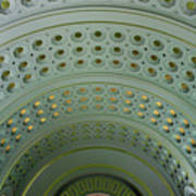 Looking Up In Union Station -- A Westward View Art Print