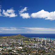 Lookout View Of Honolulu Art Print
