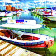 Loose Cannon Water Taxi 1 Art Print by Lanjee Chee