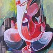 Lord Ganesha- Unique Abstraction Art Print