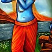 Lord Krishna- Hindu Deity Art Print