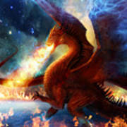 Lord Of The Celestial Dragons Art Print by Philip Straub