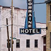 Lorraine Hotel Sign Art Print