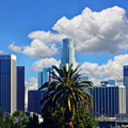 Los Angeles And Palm Trees Art Print