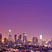Los Angeles At Dusk Print by Dj Murdok Photos