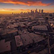 Los Angeles At Sunset Art Print