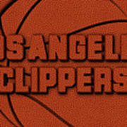 Los Angeles Clippers Leather Art Art Print