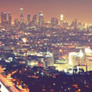 Los Angeles Art Print by Dj Murdok Photos