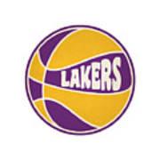 Los Angeles Lakers Retro Shirt Art Print