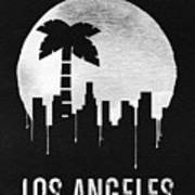 Los Angeles Landmark Black Art Print