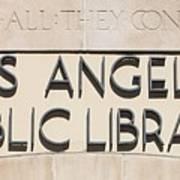 Los Angeles Public Library 0588 Art Print