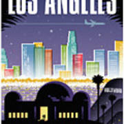 Los Angeles Poster - Retro Travel  Art Print