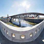 Los Angeles River Washington Avenue Bridge South Art Print