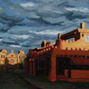 Los Farolitos,the Lanterns, Santa Fe, Nm Art Print