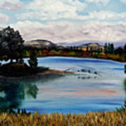 Los Gatos Lake Art Print
