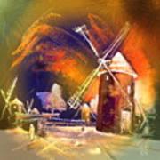 Los Molinos Del Quijote 01 Art Print