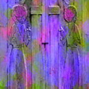 Los Santos Cuates - The Twin Saints Print by Kurt Van Wagner