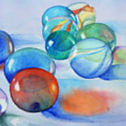 Lose Your Marbles Art Print
