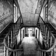Lost Glory Staircase - Abandoned Castle Art Print