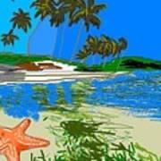 Lost Starfish On A Beach Art Print