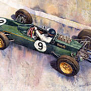 Lotus 25 F1 Jim Clark Monaco Gp 1963 Art Print