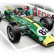 Lotus 38 Indy 500 Winner 1965 Art Print by David Kyte