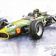 Lotus 49 Ford F1 Jim Clark Art Print by Yuriy  Shevchuk