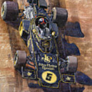 Lotus 72 Canadian Gp 1972 Emerson Fittipaldi  Art Print by Yuriy  Shevchuk