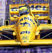 Lotus 99t Spa 1987 Ayrton Senna Art Print by Yuriy  Shevchuk