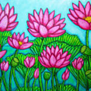 Lotus Bliss II Print by Lisa  Lorenz