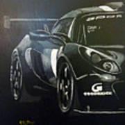 Lotus Exige Gt3 Side Art Print