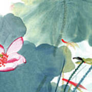 Lotus Figure Art Print